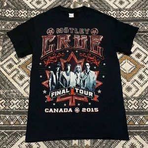 Motley Crue final Canadian tour 2015 size small